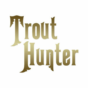 Trout Hunter Fishing - Vinyl Decal Sticker - Multiple Color & Sizes - ebn700