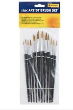 12 x Artist Brush Set Painting Brushes Assorted Artist Paint