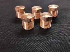 (5) Hex Pipe Plug Brass Male 3/8