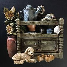 """NEW Garden Flower Table Figurine Box 4"""" • Popular Imports #40197 • FREE SHIPPING"""