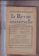la revue universelle des faits et des idées No19