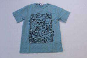 The Children's Place Boy's Rockin Dino GraphicTee OM7 Salt Lake Medium (7/8) NWT