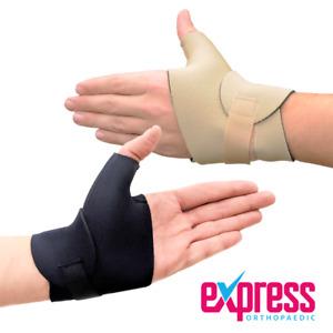 Wrist & Thumb Compression Support Wrap, Neoprene Wrist Thumb Support BLACK/BEIGE