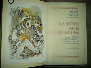 La tête sur les épaules de Henri Troyat H - édition luxe FAMOT- Comme neuf