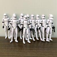 Lot 10PCS 3.75'' The Clone Wars No. 5 Clone Trooper Figures w/ Gun Blaster Toys