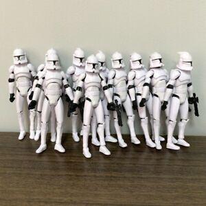 10X The Clone Wars No. 5 Clone Trooper 3.75'' Figures w/ Gun Toys Rare