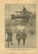 WWI Howitzer Obusier British Navy Scots officer Concorde Paris 1917 ILLUSTRATION