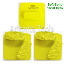 3Pk Redi Lock Quick Change Dbl Segs Grinding Disc Plate - 16/20 Grit Soft Bond