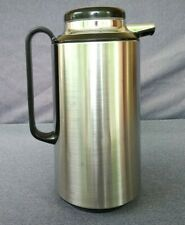 Vintage Corning Thermique Thermos Carafe Black/Stainless Steel - #8020-29