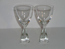 (2) HOLMEGAARD PRINCESS CRYSTAL CLEAR CORDIALS  WINE GLASSES Tear Drop
