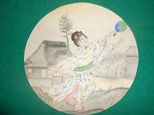 1900 Beautiful Japanese Watercolor and pencil Women's Dress