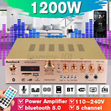 1200W Audio Amplifier HiFi Verstärker Vollverstärker bluetooth Stereo FM Radio