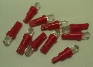 10x Red LED Wedge Dash Instrument Panel Light Bulb T5 37 70 73 74 Fits Dodge