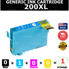 1x Generic 200xl 200 XL T2001 Ink Cartridge Cyan for Epson WF 2510 2520 2530