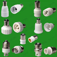 B15 SBC to E14 SES or B22 to B15 Lamp Light Bulb Adaptor, Small Bayonet Holder