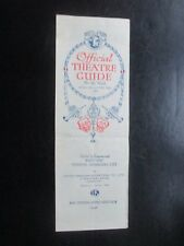 1931 OFFICIAL THEATRE GUIDE WEST END THEATRE MANAGERS