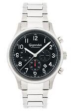Gigandet EFFICIENCY Herren Uhr Chronograph Datum Edelstahl  Schwarz G50-003