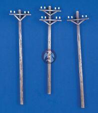 Verlinden 1/48 Power Transmission Line Utility Poles (3 pieces) [Diorama] 2226