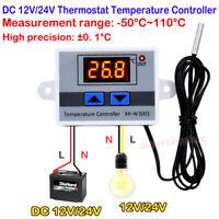 Thermostat Switch Temperature Controller DC 12V 24V Digital Display Probe Sensor