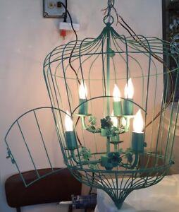 Bird Cage Entryway Foyer Hanging Pendant Chandelier Bird Roses Door Lighting