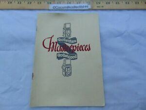 Vintage 1937 Sales Brochure Rolleiflex Rolleicord Masterpieces Camera Germany
