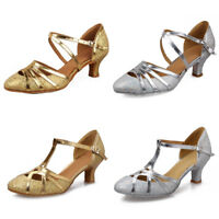 Sequins Closed Toe Ladies Women's Latin Ballroom Party Tango Salsa Dance Shoes