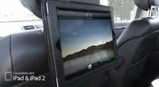Apple iPad 2 & iPad 3 & iPad 4 BLACK Dual In-Car Headrest Holder & Flip Case