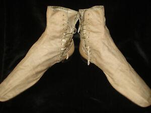 bottines à lacets anciennes - antique victorian boots - Biedermeier Stiefeletten