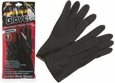 HEAVY DUTY Household Gardening Industrial Gloves Rubber Latex Flock Lined LARGE