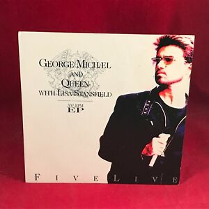 "GEORGE MICHAEL QUEEN Somebody To Love Five Live 1993 UK 7"" Vinyl single EXCELLEN"