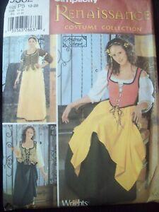 Simplicity Pattern 5582 Renaissance Costume Dress A. Schewe Size 12-20 UC/FF NOS