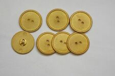 8pc 23mm Matt Gold Metal Blazer Cardigan Knitwear Button 3381