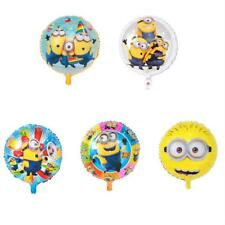 Balloons Minions Round Foil Toys Inflatable Helium Balloon Happy Birthday 5pcs