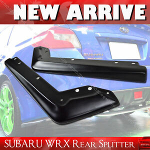 Fit For Subaru WRX 4D SALOON ADH REAR SPLITTERS PAIR SPOILER FIT STI MATT BLACK