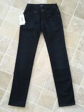 WOMENS, VERSACE COUTURE JEANS, STRAIGHT LEG, NWT, DARK BLUE, SIZE 24,  #1060