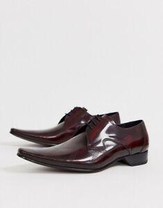 Jeffery West Burgundy Polish Leather shoes Size Uk 7