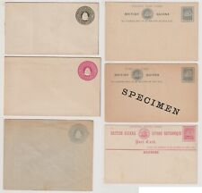 British Guiana QV Stationery collection. Mint & Used. Scarce & Rare!