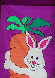 Bunny Love (One Carrot) Standard House Flag by NCE #00543