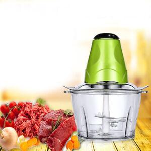 2L Electric Food Chopper Vegetable  Food Processor Meat Grinder Blender