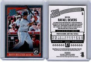 2018 Donruss Optic Raffy Big Stick Rated Rookie Rafael Devers #35 Boston Red Sox