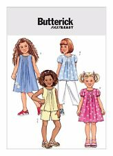 Butterick Sewing Pattern B4176 SZ 6-8 Girls Easy Tucked Tops Dresses Short Pants