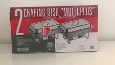 Multi Plus 2 Chafing Dish / Speisewärmer 16 teilig inklusive 6x Brennpaste