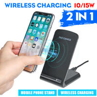 Qi Wireless Charger Charging Pad For iPhone HUAWEI 11 pro max/8 /8 Plus/P3