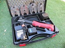 Uponor Akku Mini Press Pipe Crimper + 4 Jaws + 2 x Batteries Set rems novopress