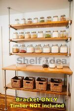 Rustic Industrial Iron Pipe Table Legs & Shelf Storage Shelving Brackets BS048