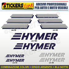 Kit completo 8 adesivi camper HYMER loghi M.5 stickers caravan roulotte decal