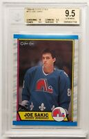 1989-90 JOE SAKIC O PEE CHEE ROOKIE CARD #113 GRADED BGS 9.5 GEM MINT