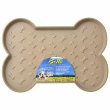 "Loving Pets Bella Spill-Proof Dog Mat - Tan Small (18.25""L x 13.25""W)"