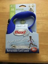 Flexi USA Retractable Dog Leash Blue Size Medium up To 44 lbs - 16 Feet