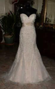MORI LEE 1903 Bridal Gown Wedding Dress Size 12 Lace Mermaid    4722935